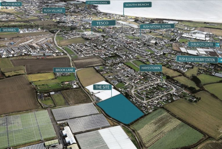3.2 acres of a residential site in Hayestown, Co Dublin with FPP
