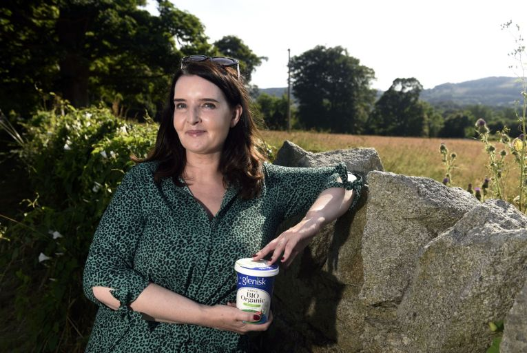 Emma Walls, commercial director at Glenisk, said sales of the company's organic products rose 50 per cent during the pandemic. Picture: Aidan Crawley