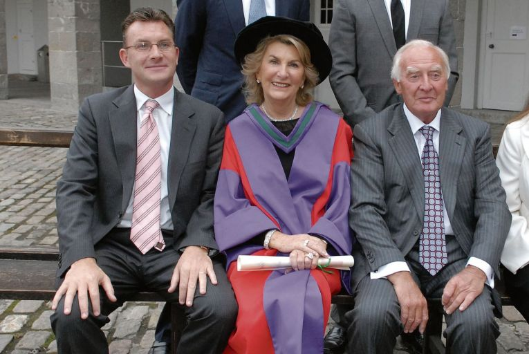 Michael Heffernan (left) with his mother, Margaret, and father, Dr Andrew Heffernan in 2007. Picture: Tony O'Shea