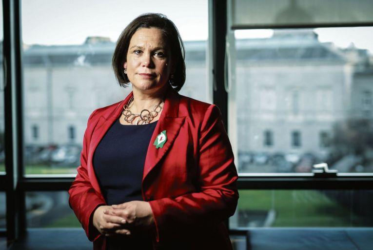 Mary Lou McDonald, Sinn Féin president: support has risen as Sinn Féin targets Fine Gael in the Dáil. Picture: Fergal Phillips
