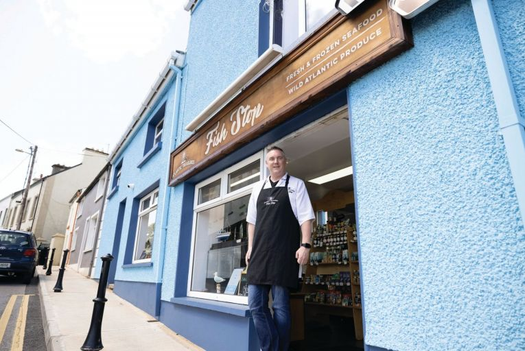 Michael O'Donnell of Atlantic Treasures at his Fish Stop shop in Killybegs. Picture: Joe Dunne