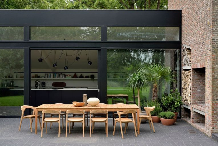 Go with stylish pieces for outside living that are not overly bulky and would not be out of place in a conservatory or living room