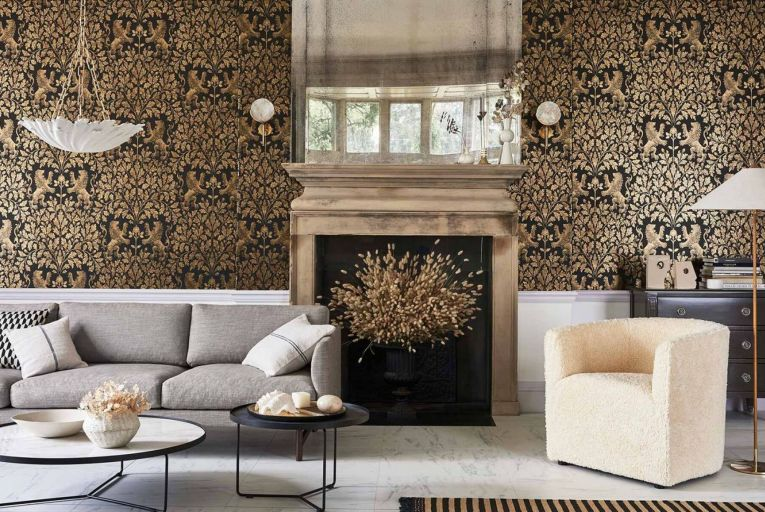 Wallpaper with textures is a key trend in 2020.