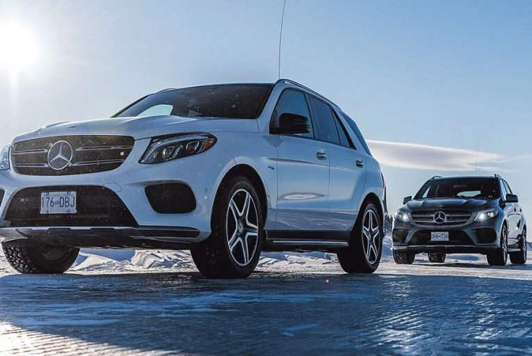 The end of the road? The Mercedes-AMG GLE 43 on the ice road to the town of Tuktoyaktuk in Canada's Northern Territories