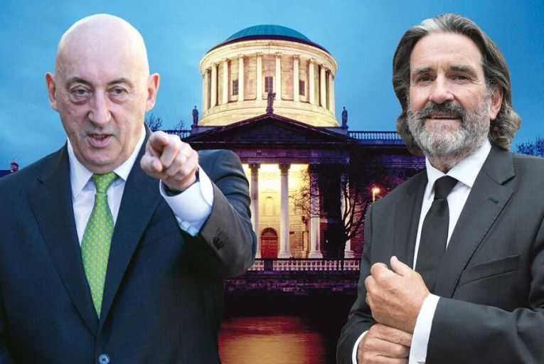 John Mulcahy, executive chairman of Glenveagh Properties, and developer Johnny Ronan: Glenveagh was defeated last week in a High Court tussle with Ronan over disputed land in Foxrock  Pic: Fergal Phillips/Tony Gavin