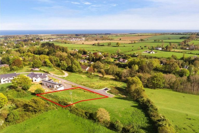 Half-acre site with planning permission and appealing views of Irish Sea