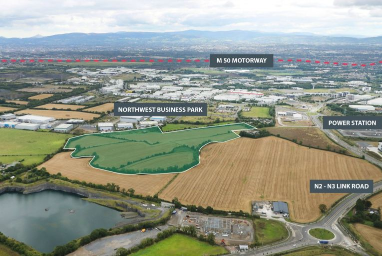 Prime land bank by Northwest Business Park guiding €10m