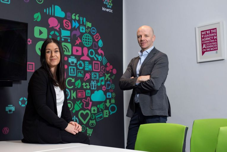 Andrew Sinclair, managing director at Kinetic, and Aoife Hudson, deputy managing director, are looking forward to a pick-up in business post-lockdown. Picture: Fergal Phillips