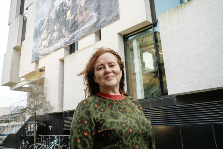 Rita Duffy, an artist in residence at the Trinity Long Room Hub Arts and Humanities Institute. Picture: Stanislav Nikolov