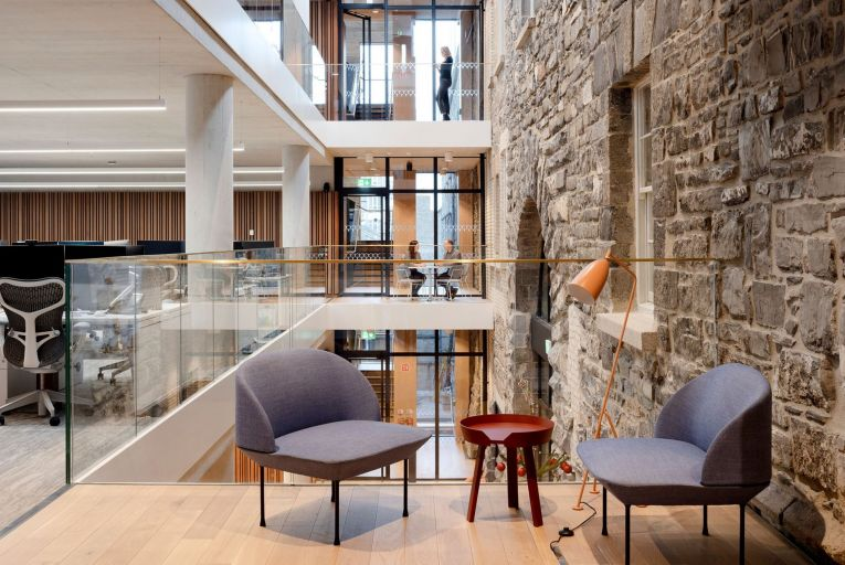 The redeveloped Irish Stock Exchange building is shortlisted in the Workplace Fit-Out category