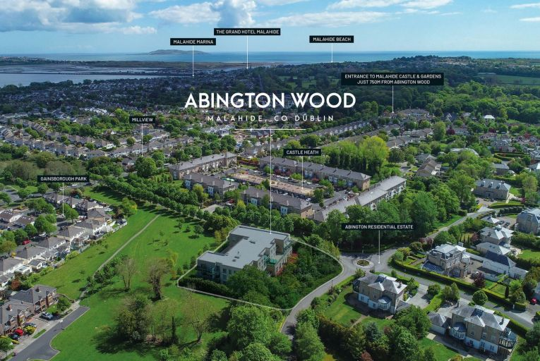 Abington Wood in Malahide, north Co Dublin: a mixed-use property with underground parking and scope to extend on sale for €9.4 million