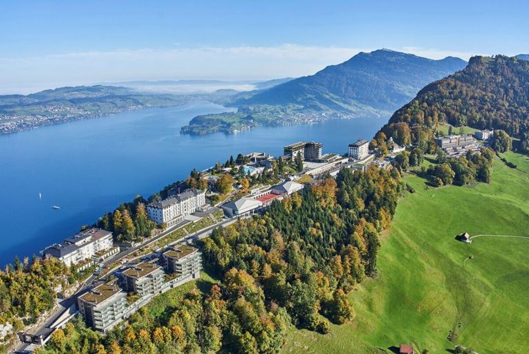 The spectacular surroundings of the Waldhotel near Lake Lucerne