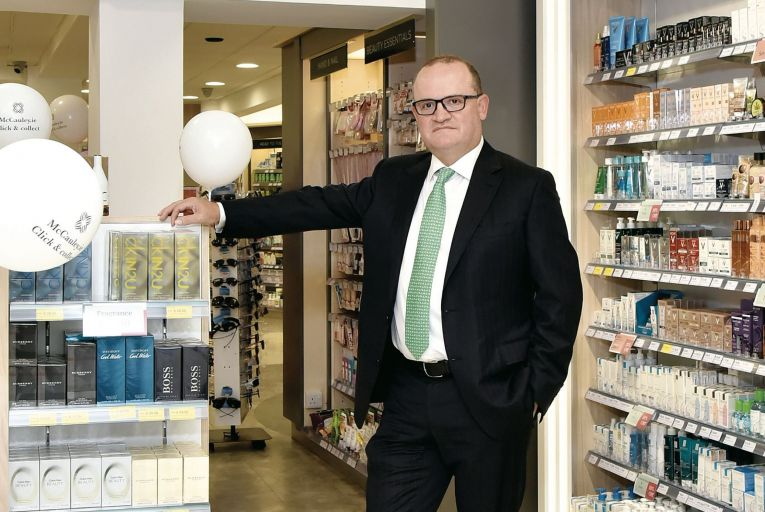 McCauley's chief executive Tony McEntee: sales of cold and flu medicines are up again