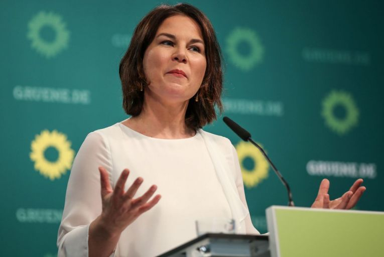 'Annalena Baerbock, chancellor candidate and co-head of the German Greens, is a perfect candidate in may ways, being young, articulate, female and smart.' Picture: Getty