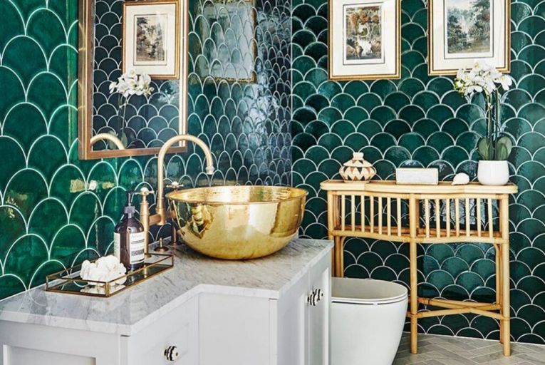 Green is having a moment in homes right now, and using tiles like these will add a stunning vintage feel