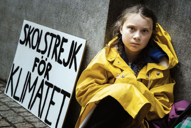 Greta Thunberg: the 16-year-old activist has put the climate crisis firmly on the political agenda. Picture: Getty