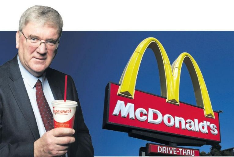 Pat McDonagh,  founder of Irish fast-food giant Supermac's Pat McDonagh
