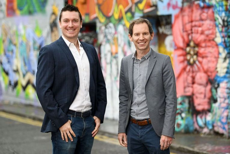 Colm Roche, sponsorship director for esports and talent at Core Media, and Stuart Dempsey, chief executive of Legion eSports: the two companies will run the new Irish esports league. Picture: Bryan Meade