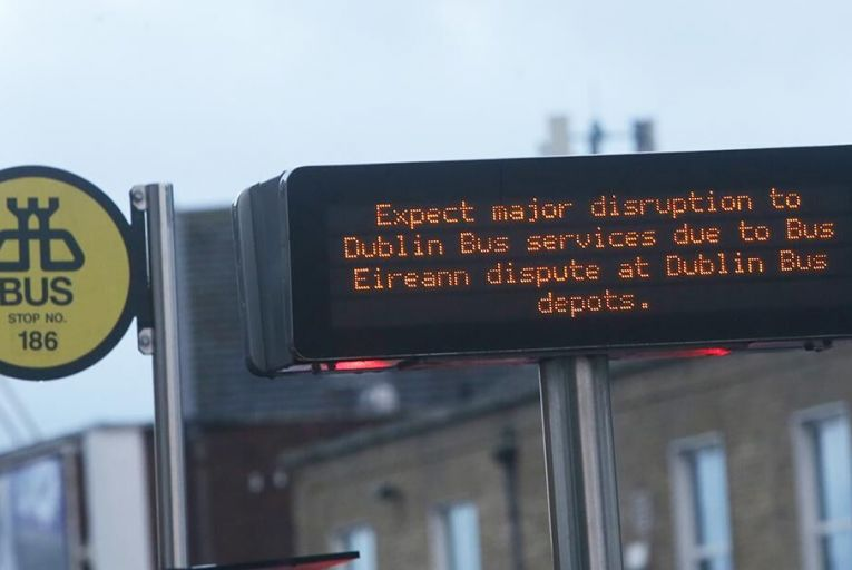 Tens of thousands of workers faced disruption due to secondary picketing action  Pic: RollingNews.ie