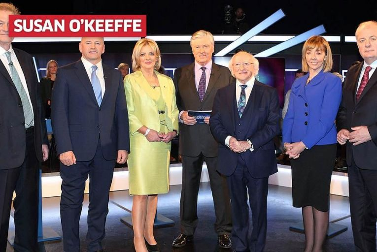 The presidential candidates at Virgin Media\'s debate. Pic: Brian McEvoy Photography