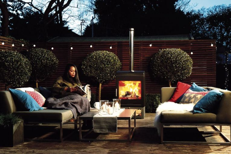 Fire is a big draw for people wanting to create outdoor spaces that are welcoming year-round