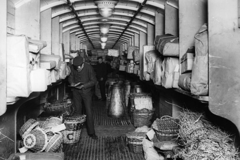 Vast volumes of parcels were sent home from US expats to their post-Famine Irish relatives