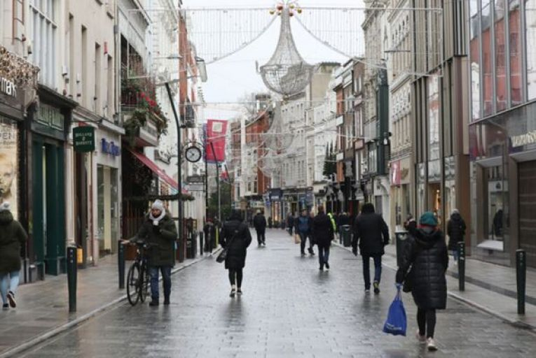 Stores on Henry Street lost 31 per cent of their value, while values on Grafton Street stores, above, fell by 26 per cent according to the report. Picture: Rollingnews.ie