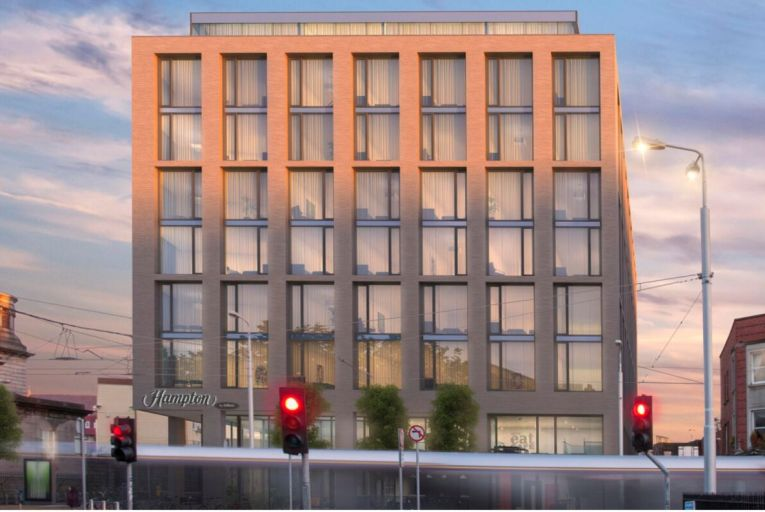 The Hampton by Hilton in Dublin is on schedule to open before 2021