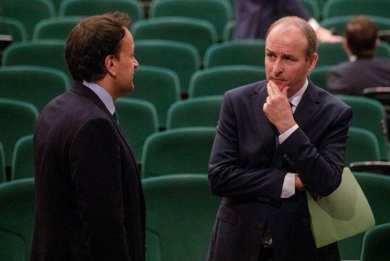 Leo Varadkar and Micheál Martin, Fianna Fáil. Picture: Maxwells