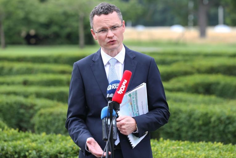 Patrick O'Donovan, Minister of State with responsibility for the OPW, launches the report in the Phoenix Park. Picture: Sasko Lazarov/Photocall Ireland