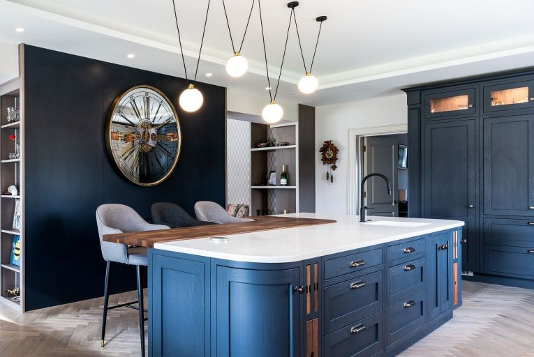 Use a central light when carrying out tasks such as cleaning or cooking in the kitchen, otherwise using other lighting options around the room to create a more interesting feel