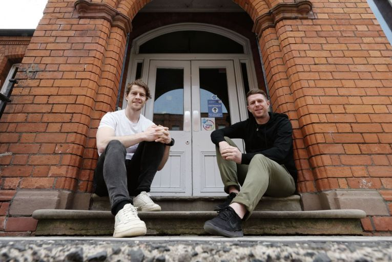 Andrew Trimble and Gareth Quinn at Kairos's offices in Belfast: 'It's very easy to get gobbled up by opportunity'. Picture: Stephen Davison