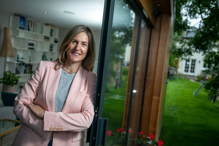 Siobhan Ryan, sales director for Ireland at UiPath, a New York-headquartered enterprise automation software company, works from her home in Limerick city. Picture: Arthur Ellis.