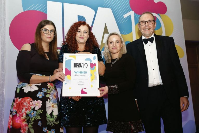 Tanya Furneaux, Deborah Tierney and Emma Raftery Triest Press winners Connacht small printer of the year, 2019