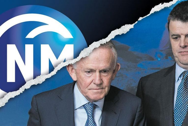 INM chairman Leslie Buckley and chief executive Robert Pitt Pic: Fergal Phillips