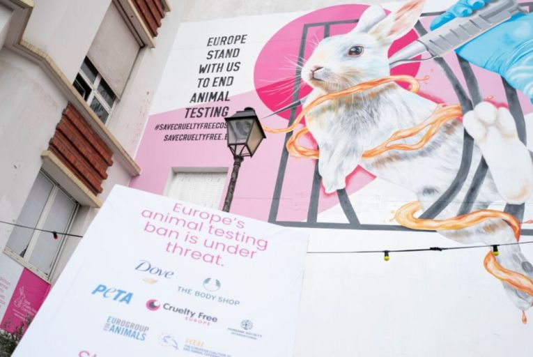 The campaign uses artwork by Nina Valkhoff, the Dutch muralist and activist known for botanical compositions of rare and nearly extinct animals. Picture: Kristy Sparow