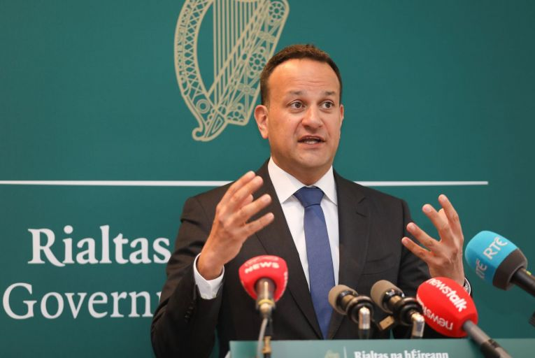 """Leo Varadkar, the Tánaiste, anticipates a """"very positive"""" re-opening of further sectors of the economy because the number of people with Covid-19 in intensive care units is below 40 and the daily number of infections is stable at 400-500 per day. Picture: Rollingnews.ie"""