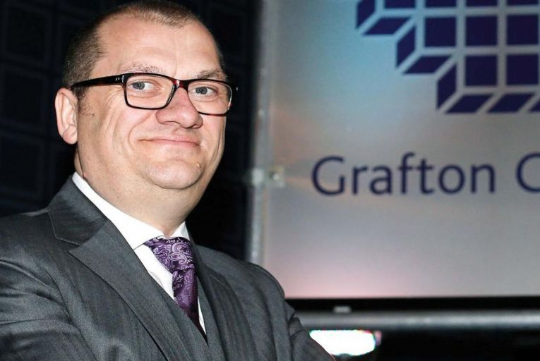 Gavin Slark, chief executive of Grafton Group, said the overall outlook for the Grafton businesses is positive. Picture: Al Staley