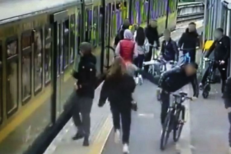 Footage emerged recently of youths at Howth Junction station who pushed, kicked and spat at commuters seeking to board, inadvertently causing one girl, in her fear, to run and trip onto the tracks.