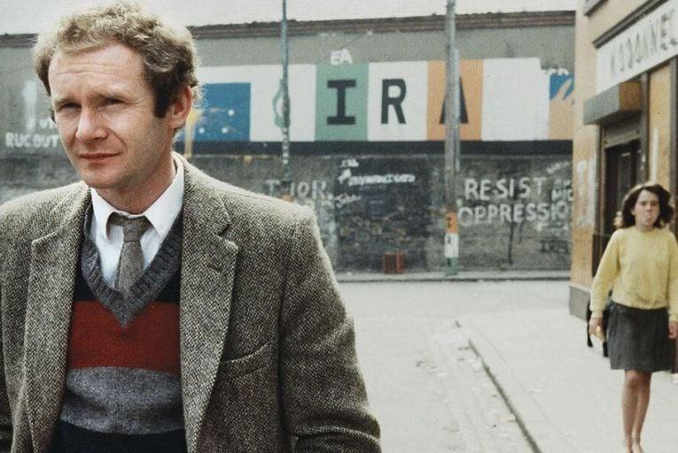 Martin McGuinness in the Bogside, Derry in 1983 Pic: Derek Speirs