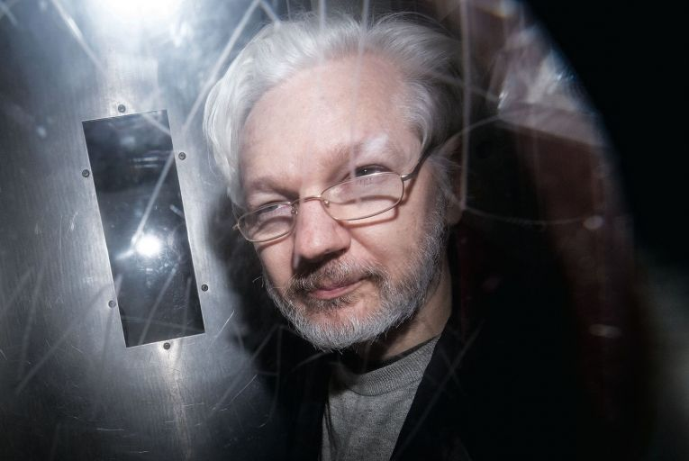 Julian Assange: those who champion press freedom should support the Wikileaks founder Picture: Getty