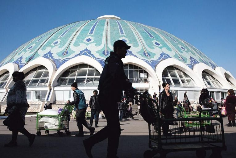 Shoppers in Tashkent, Uzbekistan.   The central Asian state is one of  a number of developing countires   that will benefit from lower  US bond yields  Picture: Bloomberg