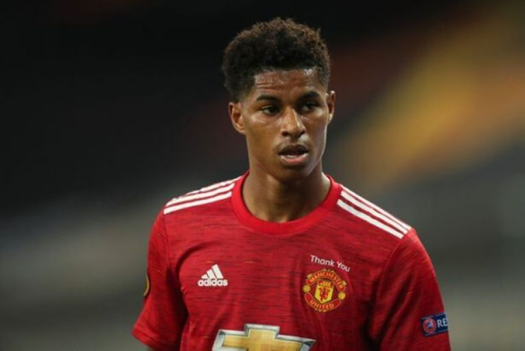 Marcus Rashford, Manchester United  striker and  champion of  school meals  for children