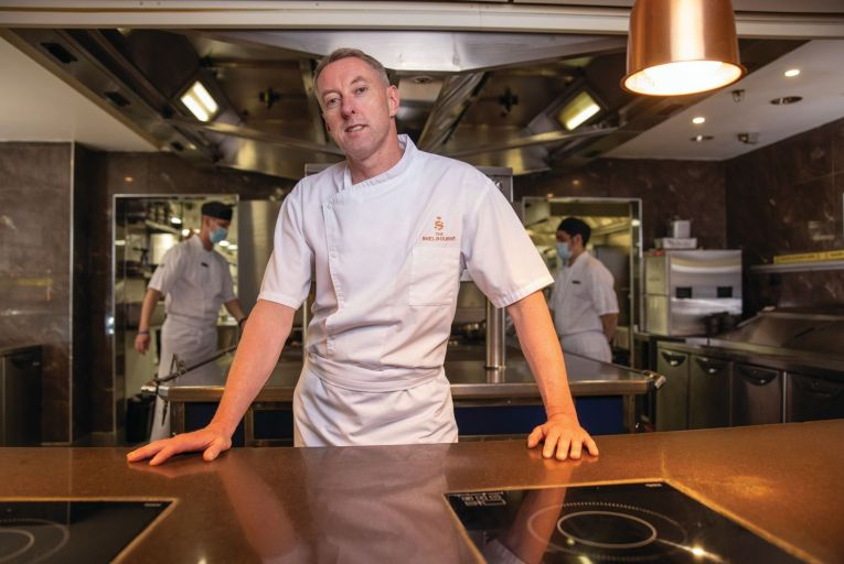 Garry Hughes, executive head chef at the Shelbourne Hotel: 'This is my dream job.' Picture: Fergal Phillips