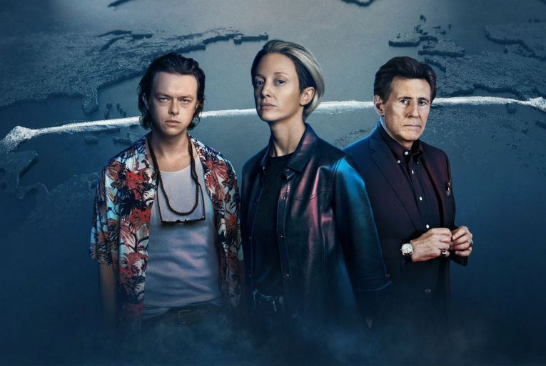 Dane DeHaan, Andrea Riseborough and Gabriel Byrne in ZeroZeroZero