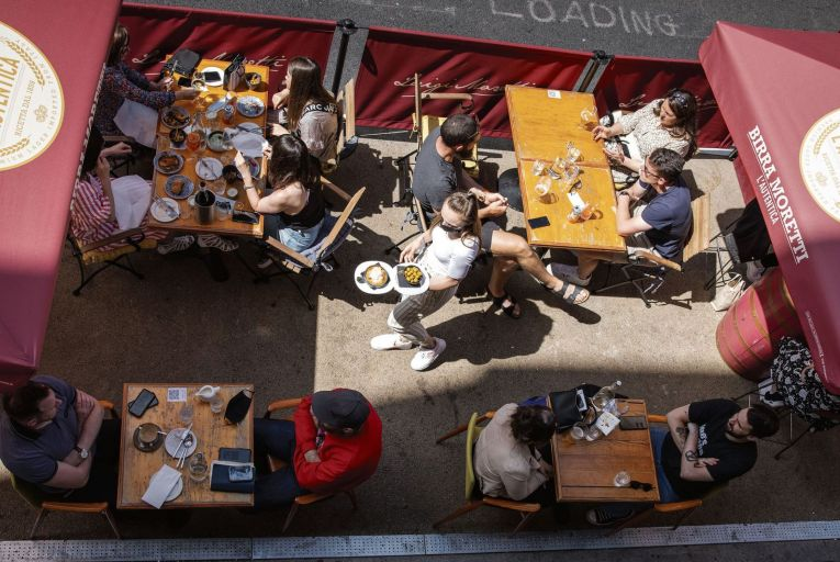 Outside dining for now, but proposals to reopen indoor dining by July 26 remained on track this weekend despite tensions between ministers and Nphet. Picture: Fergal Phillips