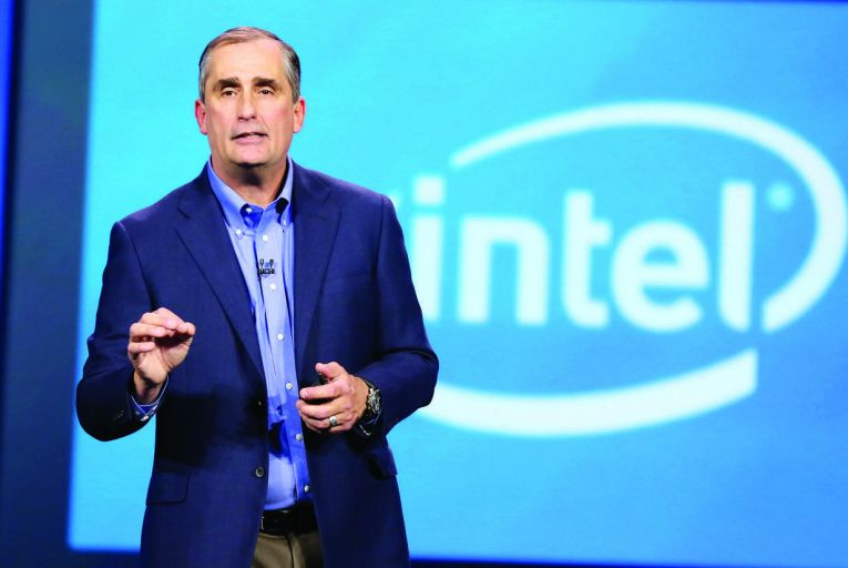 Brian Krzanich, chief executive, Intel PIc: Bloomberg