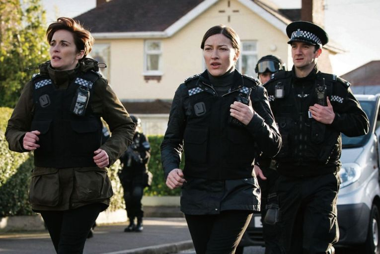 Vicky McClure, left, and Kelly MacDonald in the new series of Line of Duty