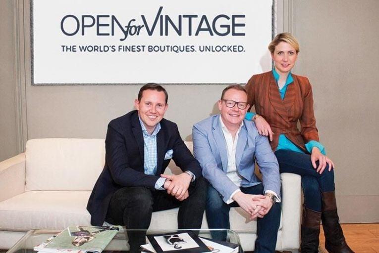 Colin Saunders, James Loftus and Sarah Byrne of Open for Vintage