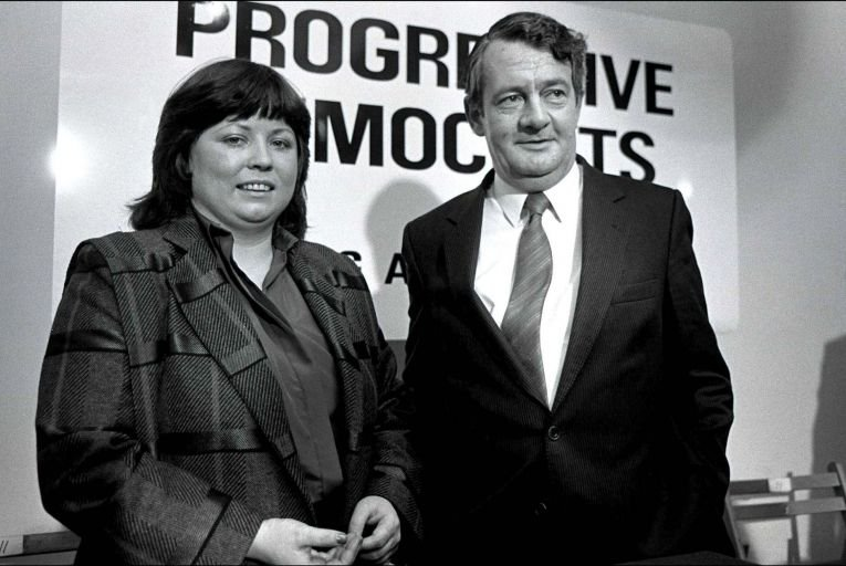 Mary Harney and Des O'Malley at a press conference to launch the Progressive Democrats party in 1985: 'It was the right time for a new party'. Picture: Derek Speirs